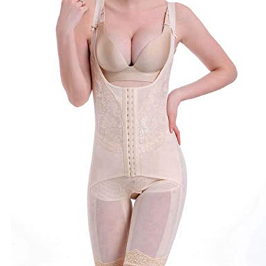 b06dc205bbf Amazon.com  Body Shaper Bamboo Waist Trainer Slimming Corsets Women ...