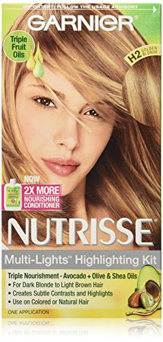 Garnier Nutrisse Nourishing Color Creme, H2 Golden Blonde (Packaging May Vary)