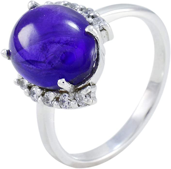 Gold Plated Wedding Ring G1262 Details about  /925 Sterling Silver Amethyst Gemstone Rose Gold