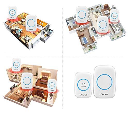 Self-powered Wireless Doorbell Smart Cordless Door Bell NO Charging Waterproof 300M 38 Melodies for Warehouses Home Office
