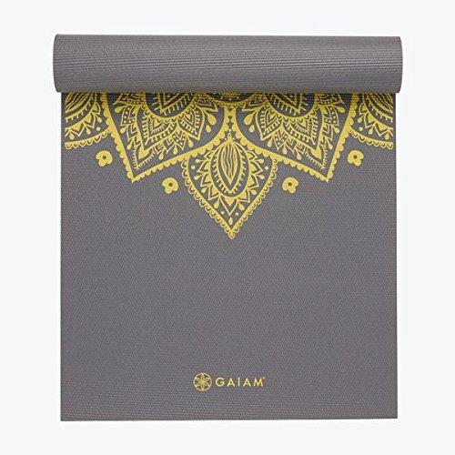 Amazon.com : Gaiam Premium Citron Sundial Yoga Mat 5mm : Beauty