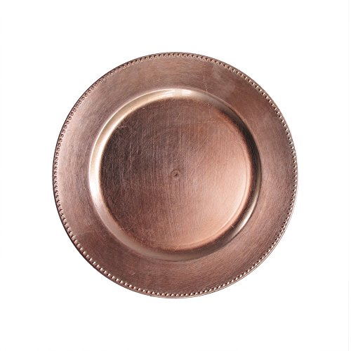 ChargeIt by Jay 1270466 Bead Rim Charger Plate, Rose ()