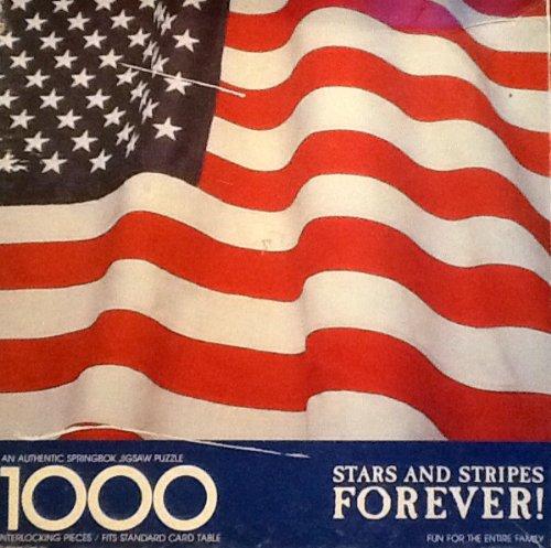 "American Flag Springbok Puzzle ~ ""Stars & Stripes Forever"" ~ 1000 Piece"