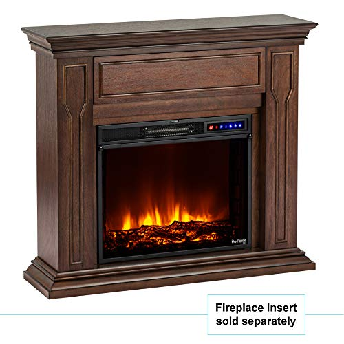 e-Flame USA Breckenridge Electric Fireplace Stove Mantel Surround - 41-inch - Walnut Espresso Finish