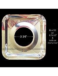 Bargain 40 Square Universal Aluminum Foil Square Gas Burner Disposable Liners BibCovers WHOLESALE occupation