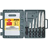 Maxam Knife Set With Cutting Board Chef/Slicer/Boning/Utility Knife/Paring Knifes Gift Boxed