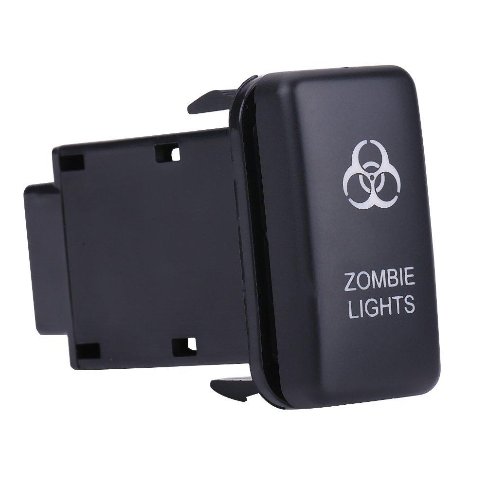 ZOMBIE LIGHTS LED Light Bar Rocker Switch ON-OFF LED Light 12V Blue LED Car Auto On Off Rocker Toggle Switch