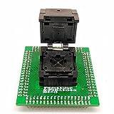 QFN48 MLF48 Programming Socket Single PCB STM IC Test Socket Pitch 0.5mm Chip Size 7x7mm Flash Adapter Clamshell for Programming Test with Even pad Matrix QFN IC DIY