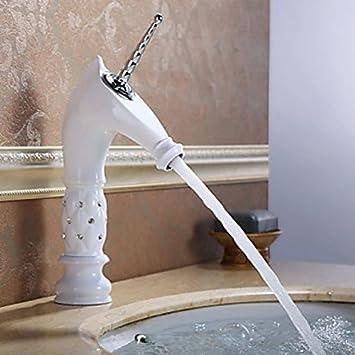 WASSERHAHN Badezimmer Tapete in weiß, mit design-Einhorn Saum aus ...