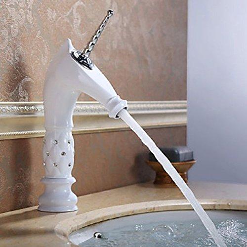 Wasserhahn Badezimmer Tapete In Weiss Mit Design Einhorn Saum Aus