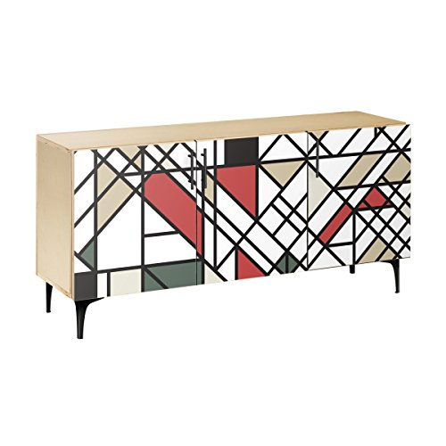 Price comparison product image Nye Koncept 13004471 Organic Modernism Arc Sideboard44; Natural & Black