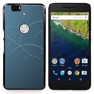 "Qstar Arte & diseño plástico duro Fundas Cover Cubre Hard Case Cover para Huawei Google Nexus 6P (Círculos azules"")"