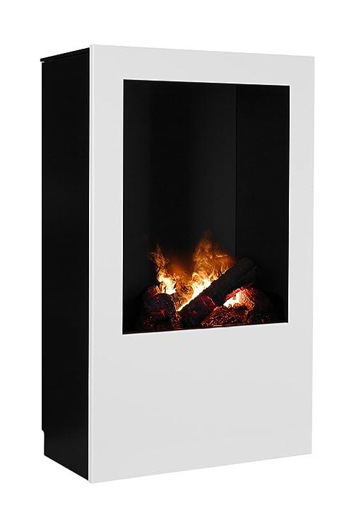Magma infrarrojos-estufa de leña 08, chimenea eléctrica de calor Optimyst con verdadera,