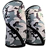 Sale Knee Sleeves (1 Pair) Support & Compression for Weightlifting, CrossFit & Powerlifting – Best Knee Brace for Squats - 7mm Neoprene - by Hook and Bull - 1 Year Warranty – Camo