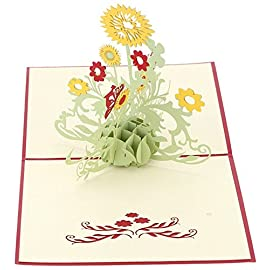 Coco*Store 3D Pop Up Greeting Cards Sunflower Birthday Mother Day Thank You Christmas 57 100% brand new and high quality Material: paper Feature: 3D Pop Up Greeting Card