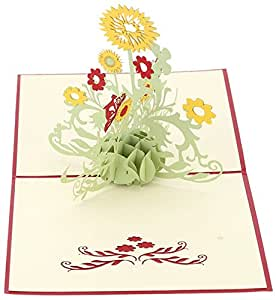 Coco*Store 3D Pop Up Greeting Cards Sunflower Birthday Mother Day Thank You Christmas