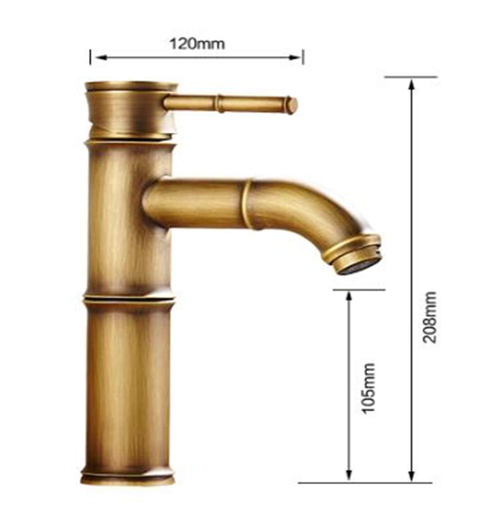 Lavabo Lavabo Lavabo caliente y frío del grifo del lavabo del solo agujero sobre el lavabo del lavabo de la altura del lavabo del cobre negro grifo de la cascada c3b84b