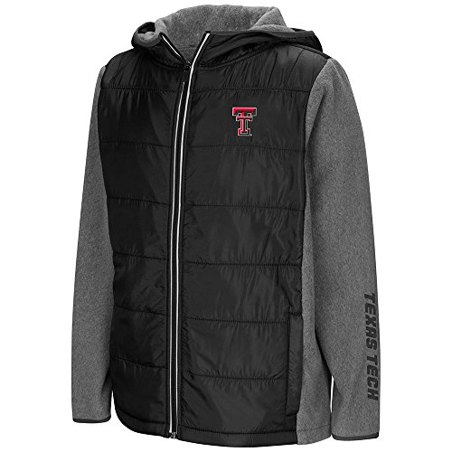 Colosseum Youth Texas Tech Red Raiders Full Zip Puff Jacket - L