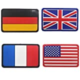 Belloc USA Tactical Patch - National Flag Patch American Flag Magic Stickers Badge Decoration for Boys, 1/4 Pc (Multi)