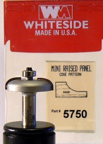 Whiteside Router Bits 5750 Miniature Raised Panel Bit with 1-3/4-Inch Large Diameter and 1/2-Inch Shank by Whiteside Router Bits
