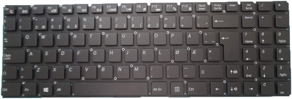 Laptop Keyboard for T-bao TBook X8S X9S 15.6 Nordic NE Black Without Frame New and Original