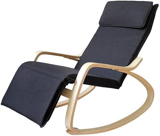 QIAOQ Mecedora Relax de Madera Mecedora Silla de salón Sillones cómodos Sillones reclinables de Gravedad Cero Silla de jardín reclinable: Amazon.es: Hogar