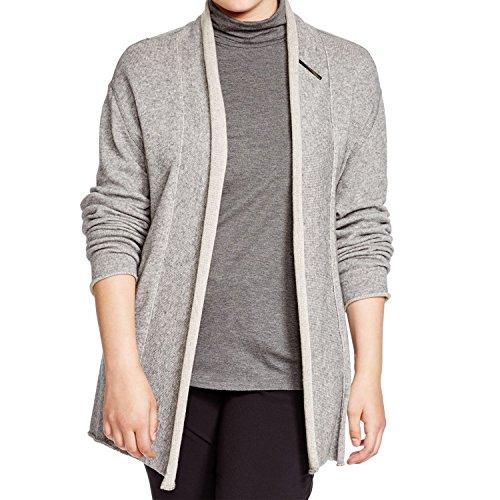 - Marina Rinaldi Women's Master Roll Collar Cardigan Large Grey