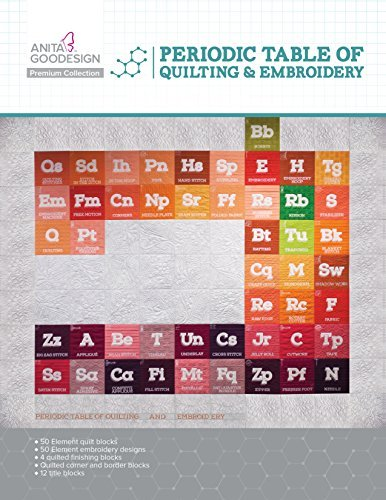 Anita Goodesign Embroidery Designs Premium Collection - Periodic Table of Quilting & Embroidery