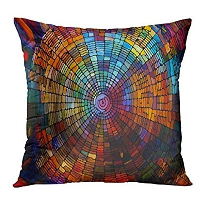 Stained Glass Series Creative Arrangement Of Virtual Fragments To Act As Complimentary Graphic Pillow Case Home