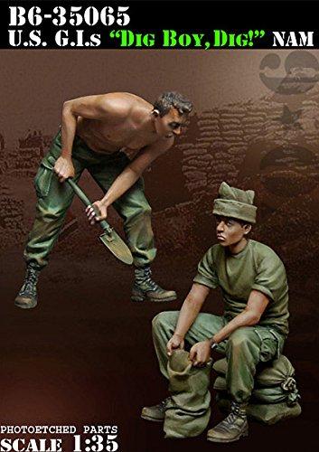 Bravo6 1:35 US G.I Dig Boy Dig! Vietnam War - 2 Resin Fig...
