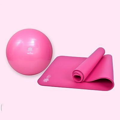 10mm élargissement Tapis de fitness + professionnel antidéflagrant 55cm Bille Qiaotun mince / anti-éclatement Sports Ball / bal de yoga / ballon d'accouchement / ballon de physiothérapie (3 couleur