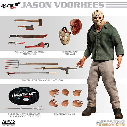 Mezco Toys One: 12 Collective: Friday The 13th Part 3: Jason Voorhees Action Figure ()