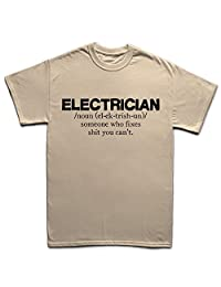 Electrician Sparky Tools Gift T Shirt 5XL Sand