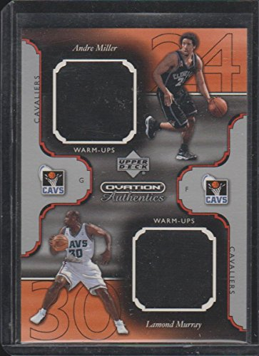 2002 Ovation Andre Miler/Lamond Murray Cav's Dual Game Used Jersey Basketball Card #AM/LM