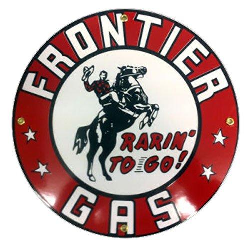 Frontier Gasoline Porcelain Sign