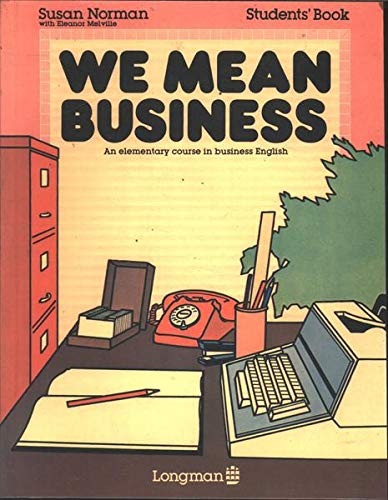 We Mean Business: Students' bk.: Elementary Course in Business English |  Amazon.com.br