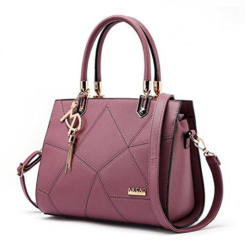 De Mano Cm Mujer Pu Wewod l h Sweet Cuero w Sa Moda Deep Bandolera Diseñado 27 Por Handbag Totes 26 X Bolsos Purple 13 UXqUY