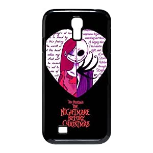 Romantic Funny The Nightmare Before Christmas Samsung Galaxy S4 I9500 Case Cover Jack Sally Covers Love heart