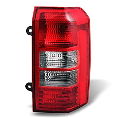 For 08-17 Jeep Patriot SUV Red Clear Rear Tail Light Tail Lamp Brake Lamp Passenger Right Side Replacement: Automotive