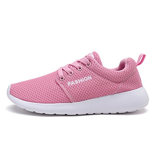 FZDX Fashion Running Shoes for Women Lightweight Breathable Mesh Plat Shoes Pink Ks9933 Zt8TWLQQVH