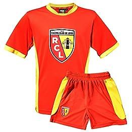 Maillot + Short Racing Club de Lens - Collection Officielle RCL - Ligue 1 - Taille Enfant garçon