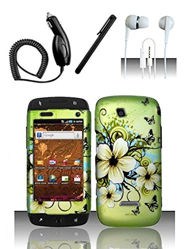 Shoparound168 Samsung Sidekick 4G (T-Mobile) Case, Green Hawaiian Flowers Design Protective Hard Case Cover For Samsung T839 ()