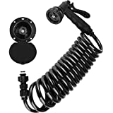 Dura Faucet DF-SA188-BK RV Exterior Quick Connect Sprayer, Hose, and Utility Spray Dock Kit (Black)