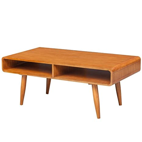 Amazon Com Midcentury Modern Coffee Table Walnut Solid