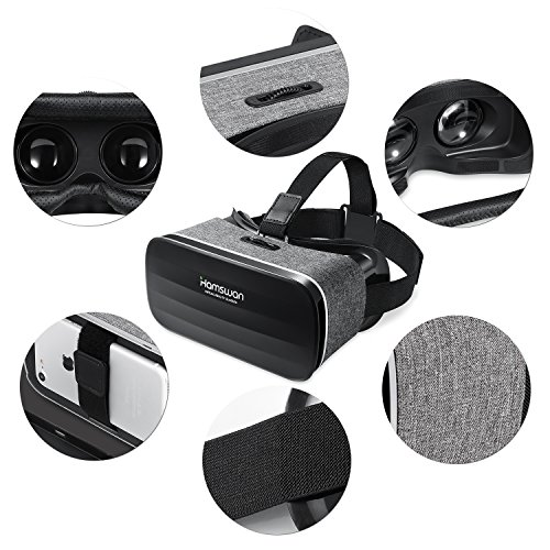 Virtual Reality Headset, HAMSWAN VR 3D VR Goggles VR Glasses VR Headset for TV, Movies & Video Games - Light Weight VR Goggles Compatible with iOS, Android and Other Phones Within 4.0-6.0 inch by HAMSWAN (Image #2)