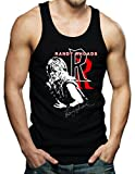 Randy Rhoads Autograph Ozzy Heavy Metal Logo Men's Shirt Tank Top Medium Black