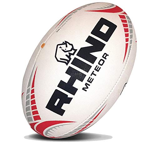 (Rhino Rugby Meteor Match Rugby Ball - Size 5)