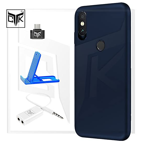 check out e265a 6aa3c TheGiftKart Redmi Note 5 PRO Back Cover + OTG Adapter + Audio Splitter +  Mobile Stand - Combo