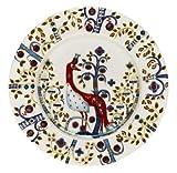 Iittala Taika Salad Plate, White with design, 8.75-Inch