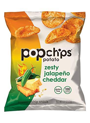 Popchips Zesty Jalapeno Cheddar, 0.8 Ounce (24 Count)